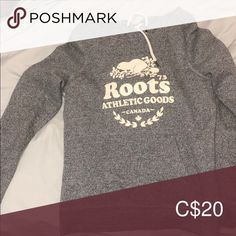Roots hoodie so comfy! just don't reach for it anymore Roots Tops Sweatshirts & Hoodies Just Don, Hoodies, Sweatshirts, Roots, Gray Color, Graphic Sweatshirt, Product Description, Comfy, Best Deals