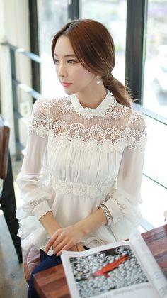 Morpheus Boutique  - White Bud Silk Collar  Chiffon Long Sleeve Shirt MB, CA$117.53 (http://www.morpheusboutique.com/white-bud-silk-collar-chiffon-long-sleeve-shirt/)