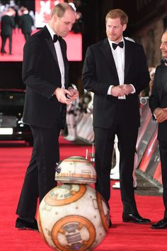 Prince William The Duke Of Cambridge And Prince Harry Attend The Star Wars