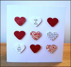 Handmade personalised Ruby Wedding Anniversary by ElsieBobbins
