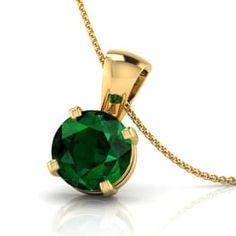 Simply Emerald Pendant Jewellery India Online - CaratLane.com