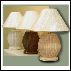 Barrel Wicker Table Lamp