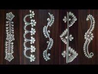 Innovative and unique Border Rangoli Rangoli Designs Latest, Rangoli Designs Flower, Rangoli Border Designs, Rangoli Designs Images, Rangoli Designs With Dots, Rangoli Designs Diwali, Beautiful Rangoli Designs, Diwali Rangoli, Henna Designs
