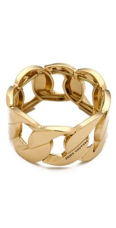Juicy Couture Stretch Chain Bracelet inspired by Shop at DivaMall. Juicy Couture Jewelry, Jewelry Accessories, Jewelry Design, Fashion Jewellery Online, Designing Women, Chain, My Style, Bracelets, Gold