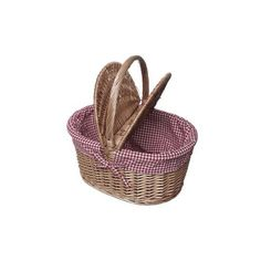 Picnic Basket Wicker Large | DotComGiftShop (1.880 RUB) ❤ liked on Polyvore featuring bags, fillers, accessories, baskets and decoration