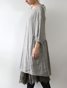 cotton gauge overlay slip & dress