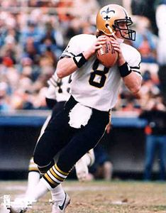 Archie Manning - Manning played for the Saints for ten full seasons, none of them winning. In 1972 he led the league in pass attempts and completions, and led the NFC in passing yards, though the team's record was only 2-11-1. In 1978, he was named the NFC Player Of The Year by UPI after leading the Saints to their first non-losing season. They finished 8-8. That same year, Archie was also named All-NFC by both the UPI and The Sporting News.
