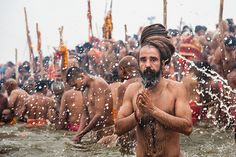 During Kumbh Mela pilgrimage 2013, Allahabad, India