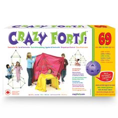 Crazy Forts are a unique, award winning, building and creative toy. Crazy Forts come with 69 child-safe toggles and rods that join together to build any play space from your child's imagination. Fort Kit, Play Fort, 6 Year Old Boy, Toys R Us Canada, Buy Toys, Birthday Games, Childrens Gifts, Toys Online, Toys For Boys