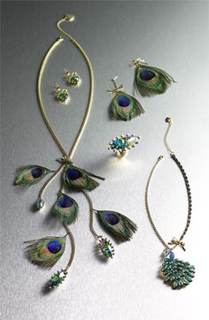 Betsey Johnson 'Asian Jungle' Peacock Pendant Necklace   Nordstrom