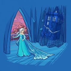 Karen Hallion's Latest Doctor Who/Disney Princess Mashup Is Wicked Cool<Am i the only one who notices the crack in the ice?