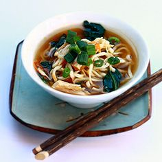 A quick and easy meal - Chicken Miso Soup with Ramen Noodles
