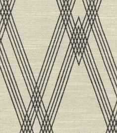 Nate Berkus Upholstery Fabric - Wareham Black/Bone