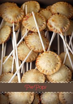 Pie pops! Such a cute idea for parties!