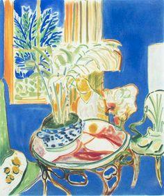 Henri Matisse (French, 1869-1954), Petit interieur bleu [Small Blue Interior], 1952. Aquatint, 51 x 43 cm.