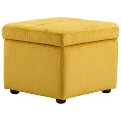 Huffington Ottoman - Yellow
