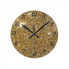 This #gold #glitter remains one of my most #popular designs, & the #clock is bought quite frequently of late! https://www.zazzle.com/z/3sgk4?tc=MPsales  Come see everything else at Tannaidhe's Designs!  http://www.zazzle.com/tannaidhe?rf=238565296412952401&tc=MPPin