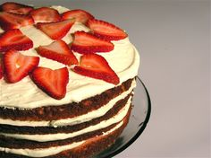 Spring days get me in the mood for strawberries and lemonade.  I think I'll be combining them soon in this cake. :)