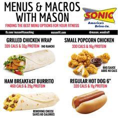 healthy options at sonic