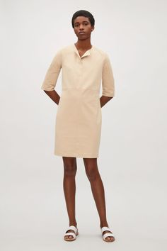 COS image 1 of Dress with slit details in Sand