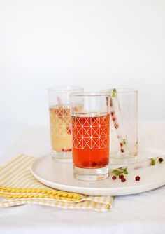 Peach punch with fruity ice sticks. Photography and styling by Lisa Tilse for We Are Scout.