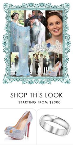 """""""Blair and Chuck Blue Wedding"""" by manonmode22 ❤ liked on Polyvore featuring Elie Saab and Christian Louboutin"""