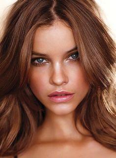 Caramel hair,add blonde. Pinterest needs more tutorials on Barbara Palvin Makeup & Hair!!!