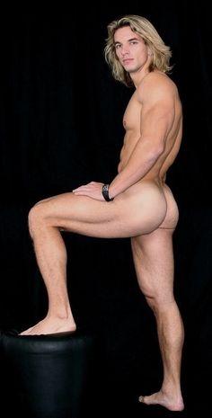 Naked blond guy butt amusing