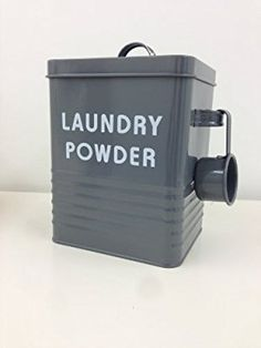 Vintage Retro Style Laundry Powder Tin In Slate Finish - Ideal For Storing Washing Powder or Tablets