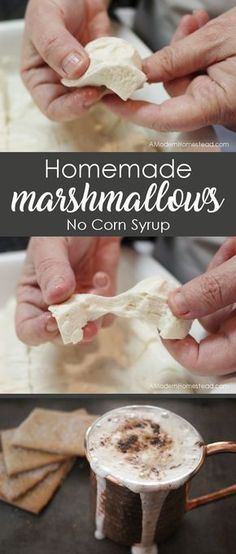 EASY homemade marshmallows without corn syrup! They are super fun to make and this recipe is actually good for you since it's made with grass-fed beef gelatin! Great recipe to make with kids, it's like magic!