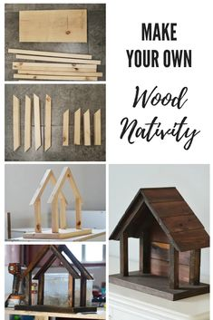 to make your own wood nativity DIY natvitiy for willow tree figurines. Christmas DecorDIY natvitiy for willow tree figurines. Christmas Wood Crafts, Christmas Projects, Holiday Crafts, Christmas Crafts, Christmas Decorations, Christmas Ornaments, French Christmas, Xmas, Diy Christmas Nativity Scene