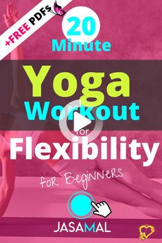 20 Minute Beginner Yoga Routine for Flexibility - Beginners - #yoga #yogaideas<br> Yoga Routine For Beginners, Hip Mobility, Yoga For Flexibility, Beginner Yoga, Yoga Fitness, Yoga Poses, Workout, Yoga For Complete Beginners, Work Out