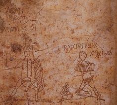 Pompeii graffiti of a gladiatorial contest.