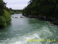 White water rafting down the Trancura River near Pucón, Chile