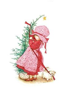 Image discovered by Find images and videos about holly hobbie on We Heart It - the app to get lost in what you love. Holly Hobbie, Illustration Noel, Christmas Illustration, Illustrations, Noel Christmas, Vintage Christmas, Xmas, Christmas Clipart, Christmas Wrapping