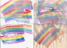 100 Acts of Kindness: Rainbow Painting Surprise {Via Glittering Muffins} at Toddler Approved