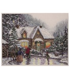 Electronic Components & Supplies Sweet-Tempered Sled Dog Cross Stitch Kit Animal In Winter Snow 14ct 11ct Count Print Canvas Stitching Embroidery Diy Handmade Needlework