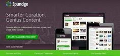 #spundge #socialmedia #statup #curation tool to create best content, #googlereader alternative #edtech20 #pln