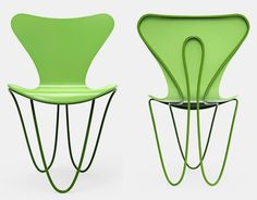 zaha hadid's interpretation formalizes the series 7 chair as a dynamic and seamless expression of structure and support