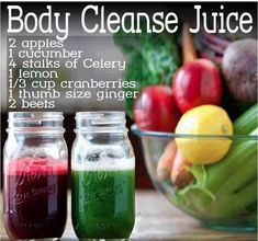 11 DIY Juice Cleanse Recipes for the Home - Detox Juice Recipes Juice Cleanse Recipes, Detox Juice Cleanse, Smoothie Detox, Juice Smoothie, Detox Recipes, Detox Juices, Liver Cleanse, Juice Cleanses, Stomach Cleanse