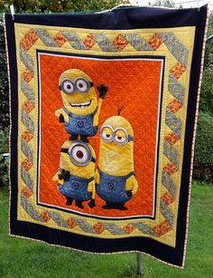 Minions Quilt Comforter by JentoCrafts on Etsy