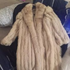 Full Length Fox Fur Coat OPEN TO OFFERS Vintage blue fox fur coat.  Full length. From Finland.  I think it's a medium but the label doesn't specify. Jackets & Coats