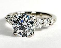 Floating Diamond Engagement Ring in Platinum #BlueNile blue-nile-diamond-engagement-rings