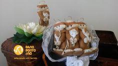 Buquê de Santo Antônio - Feltro com medalha - Casamento - Noiva