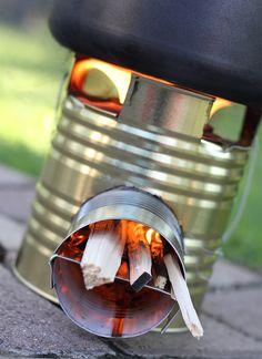 Tiny Rocket Stove http://www.handimania.com/diy/tiny-rocket-stove.html