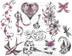 Victorian Girlie Tattoo Flash by expedient-demise.deviantart.com