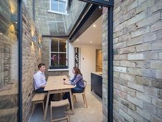 """Completed in Spring this glazed side-return creates an elegant kitchen and dining space for an East Oxford terrace. The client said,""""The side return has changed our kitchen from a narro… Fixer Upper House, Terraced House, Victorian Terrace House, Victorian Homes, Victorian Kitchen, Edwardian Haus, Side Return Extension, House Extension Design, Extension Ideas"""