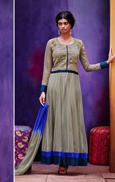 Picture of Bewitching Grey Ready Made Wedding Salwar Kameez