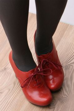Updated ruby red slippers!! - 'Flok' shoes by Chie Mihara A/W 2011/2012