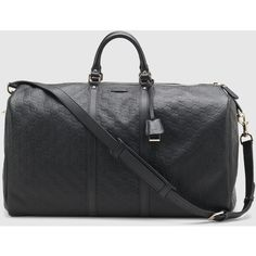 Gucci Large Carry-On Duffle. ($2,165) ❤ liked on Polyvore featuring bags, luggage, black, duffel bags and travel bags & luggage